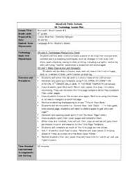 Ms Word Lesson Plans Microsoft Word Lesson 3 Lesson Plan For 4th Grade Lesson Planet