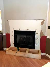 installation of fireplace bottom with pallets