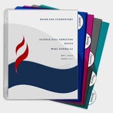 5 Tab Poly Binder Index Dividers With Slant Pockets Assorted 5 St