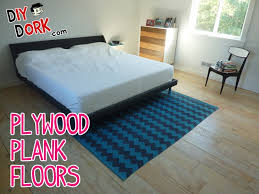 diy dork s plywood plank floors