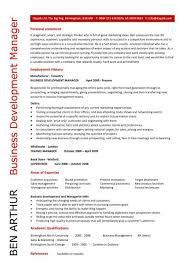 Business Development Manager personal statement