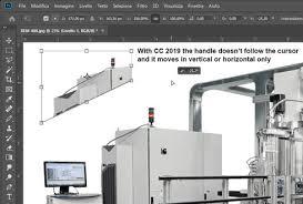 Photoshop Cc 2019 Free Transformdistort Tool Inconsistency