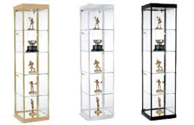 Free Standing Display Cabinets Glass Showcases Countertop FloorStanding Tower Style Displays 10