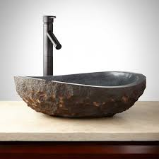 vessel sinks glass copper steel  stone  signature hardware