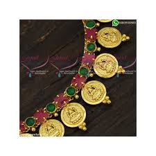 gold coin necklace new temple jewellery