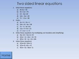 two sided linear equations