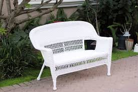 image of white wicker chairs for garden