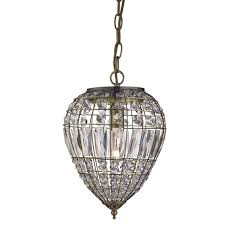 antique brass ceiling pendant light fitting lighting with crystal glass ons