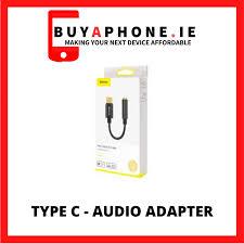 <b>Baseus</b> Converter L54 <b>Type</b>-<b>C Male</b> to 3.5mm Female Adapter Black