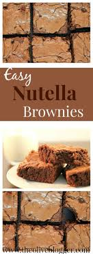 Nutella Topped Brownies 25 Best Easy Nutella Recipes Ideas On Pinterest Nutella Recipes