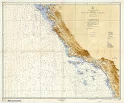 Amazon Com Map San Diego To San Francisco Bay 1952