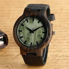 columbus natural wood classic men s wooden watch leather strap