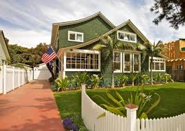 Green House with White Trim. sage green exterior house paint