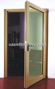 aluminium open door with glass panel in low