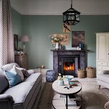Living Room Design With Fireplace Elegant Green Living Room With Traditional Fireplace Living Room