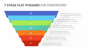 Pyramid Powerpoint 7 Stage Flat Pyramid Powerpoint Diagram Pslides