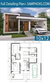 Cottage Design Plans 3 Bedrooms Home Design Plan 10x12m Simple House Design