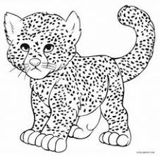 Free Cheetah Coloring Printable Sheet Page Mosaics Pinterest