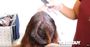 step 2 of ombre balayage hair colouring technique tutorial