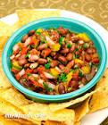 black soybean and tomato chili salsa