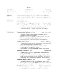 Civil Engineering Technology Student Applying For Co Ops