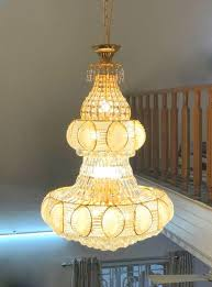 large golden crystal chandelier