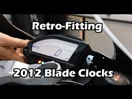 cbrrr fireblade clock dash swap retro fitting to an cbr1000rr 2012 fireblade clock dash swap retro fitting to an early bike