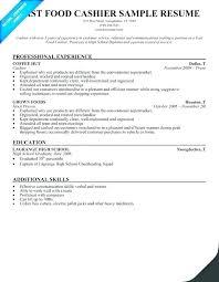 Restaurant Cashier Skills Resume Description Job Spacesheep Co