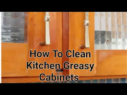 kitchen sticky cabinets cleaning tip