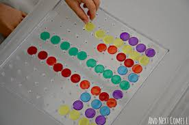 Pattern Activities For Preschoolers Unique Math Patterns Using A Clear Geoboard Fine Motor Math Activity For