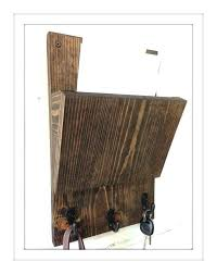 hanging mail holders rustic wood holder and key rack wall sorter organizer