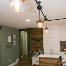 industrial track lighting. black industrial track lighting over kitchen dining i