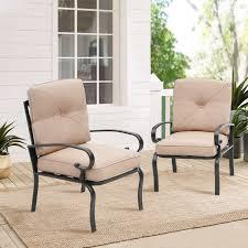suncrown patio metal dining chair