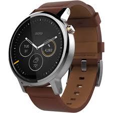 motorola smartwatch. moto 2nd gen 360 46mm men\u0027s smartwatch (silver, cognac leather motorola 0