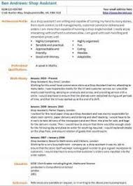 Cv Shop Assistant Shop Assistant Cv Example Learnist Org