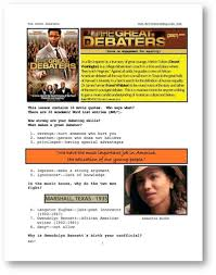 movies grow english interactive esl lessons the great debaters esl lesson cover page for whole movie lesson for the great debaters at movies