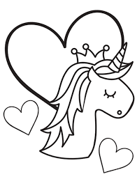 free unicorn themed printable coloring pages for kids birthday party unicorn head with crown and