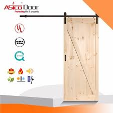 clical z brace unfinished interior barn door slab with sliding door hardware