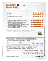Free Thanksgiving Math Activities Grades 1 6