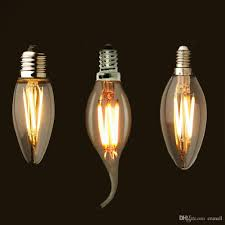 e12 e14 e26 dimmable 2 4 6w vintage led filament candelabra bulbs 110lm w 2700k 110v 220v c35 bullet top c35t bent tip dimmable led light bulbs led lights
