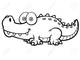 Small Picture Coloring Pages Animals Crocodile Coloring Pages To Print