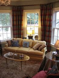 Plaid Curtains For Living Room Formal Sitting Room With Silk Plaid Curtains Custom Pillo Flickr