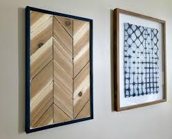 picture of cedar chevron wood wall art
