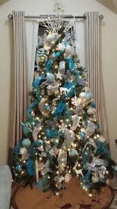 Silver and Blue Christmas Tree.