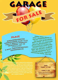 Free For Sale Flyer Template Garage Sale Flyer Dldaily Co
