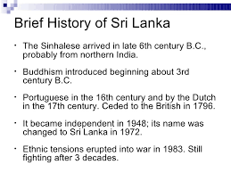 sec chapter conflict in multi ethnic societies sri lanka slidesha 8 brief history of sri lankabull