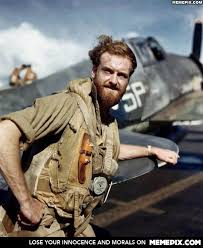 Grizzled WWII Pilot with Hellcat - MemePix via Relatably.com