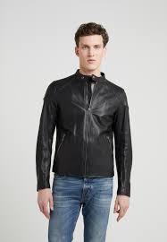racer leather jacket black