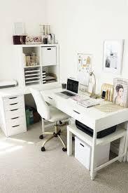 Bright white office via tuliprim Room organization Pinterest