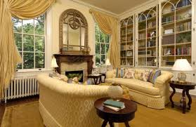 Bookshelves Living Room Cool Furnitures Classic Living Room With Patterned Sofa Also Wall